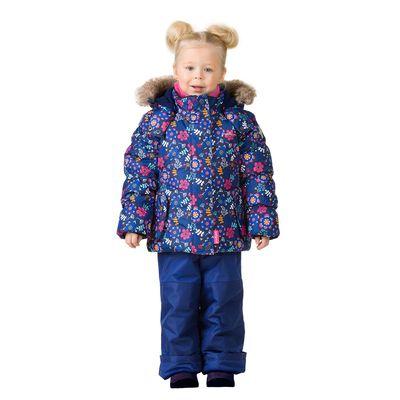 Комплект зимний (куртка, полукобинезон) для девочки, рост 104 см, цвет синий W17343