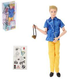 """Кукла модель шарнирная """"Эдвард"""", с аксессуарами, МИКС"""