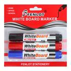 Набор маркеров для доски 3 цвета 3 мм на блистере