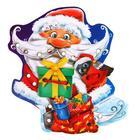 "Шнуровка фигурная ""Дедушка Мороз с подарками"", 4 элемента"