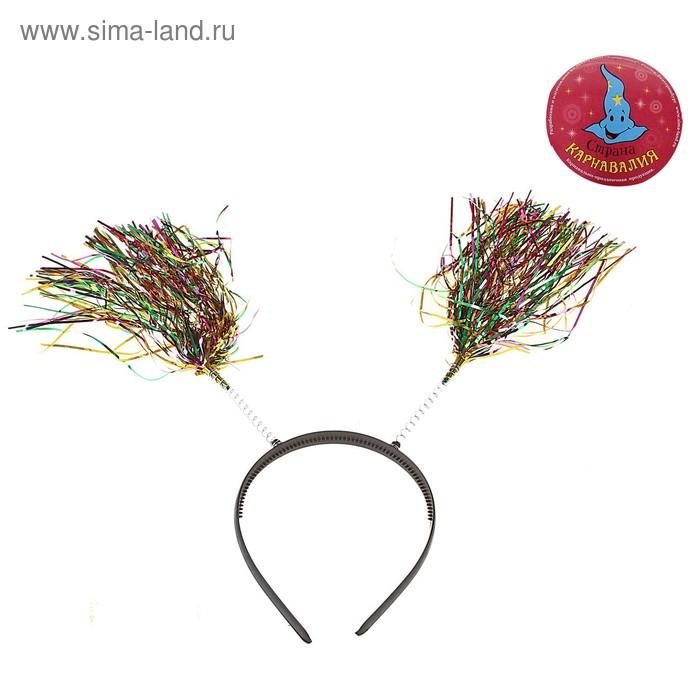 """Карнавальный ободок """"Дождик"""" многоцветный"""