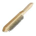 Щетка SANTOOL 5-рядная металлическая с деревянной ручкой