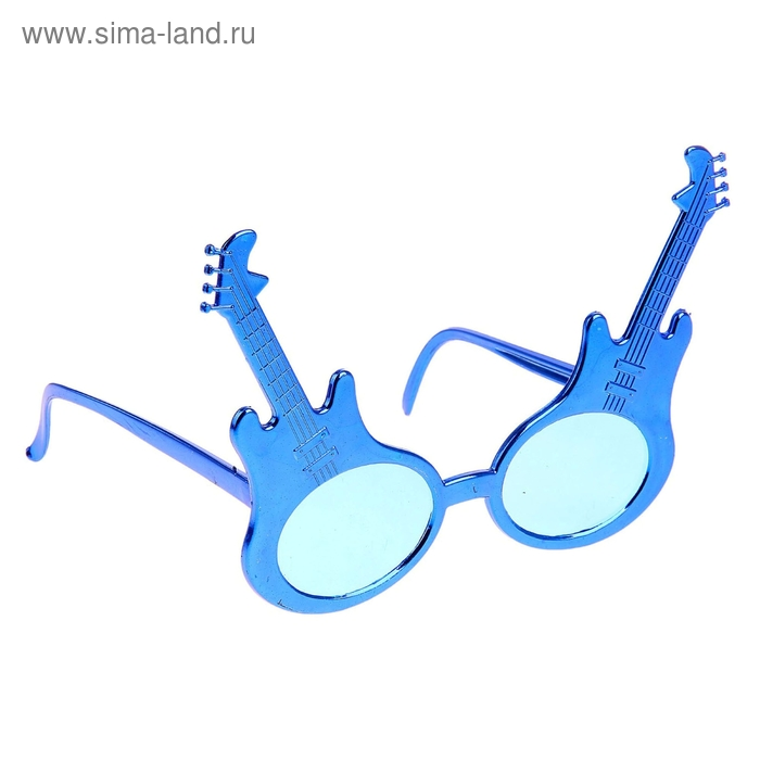 Карнавал очки гитара цвета микс 11*15