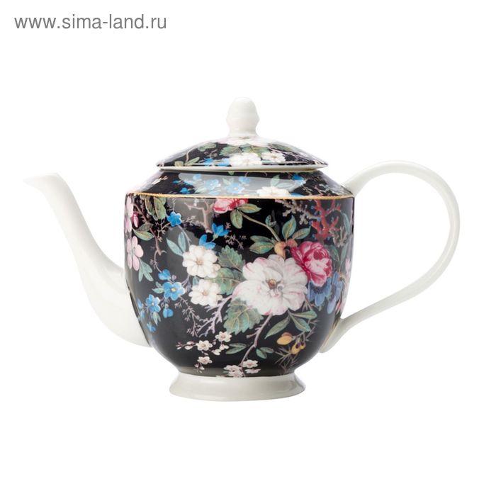 """Чайник """"Полночные цветы"""", в подарочной упаковке"""
