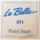 Отдельная стальная струна La Bella PS011 без оплетки, 011