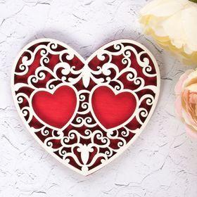 "Подставка под кольца ""Красное сердце"""