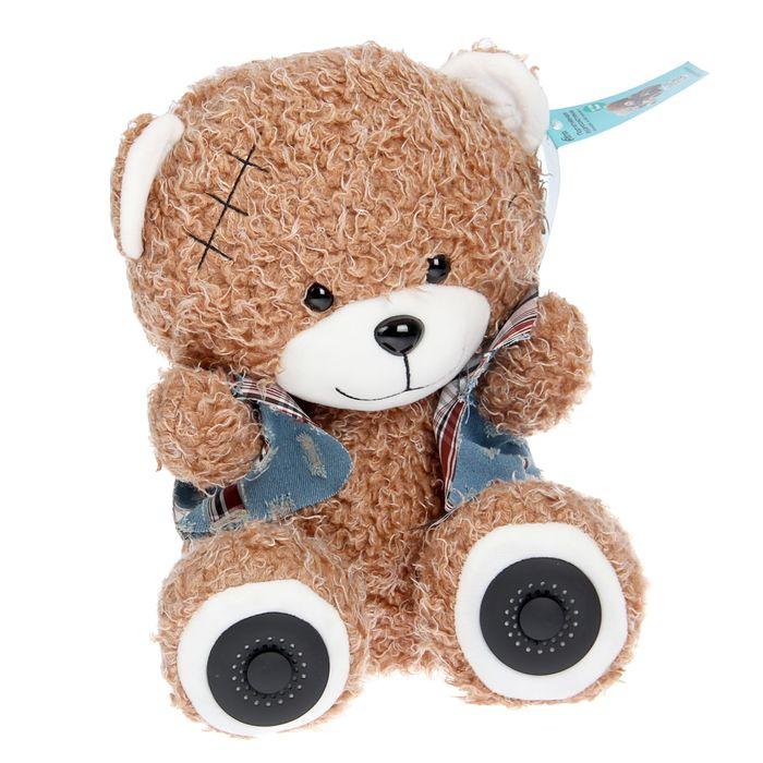 Акустическая система RITMIX ST-150 Bear Brown, 2х3Вт, MP3, FM, Li-Ion 2000 mAh, USB