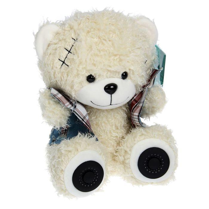 Акустическая система RITMIX ST-150 Bear White, 2х3Вт, MP3, FM, Li-Ion 2000 mAh, USB