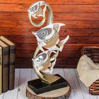 """Сувенир полистоун зеркальные вставки """"3 расписных рыбки в водорослях"""" 37,5х17х8,5 см"""