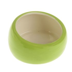 Миска керамическая со скошенным краем, 11 х 5,5 см, 200 мл, зелёная