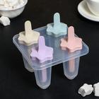 """Форма для мороженого """"Цветочки"""", 4 ячейки, цвета МИКС"""
