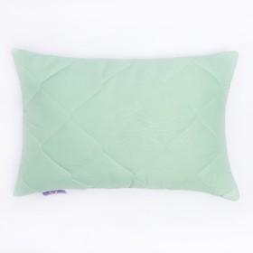Подушка высокая 50*68см, зел., бамбуковое волокно/натур.латекс, микрофибра, пэ100%