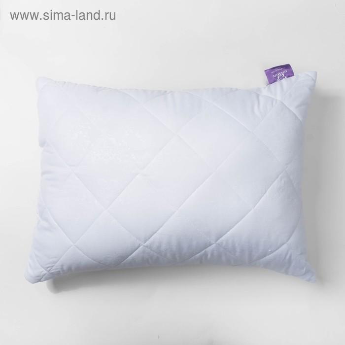 Подушка высокая 50*68см, белый, бамбук/силиконизированное волокно, микрофибра, пэ100%