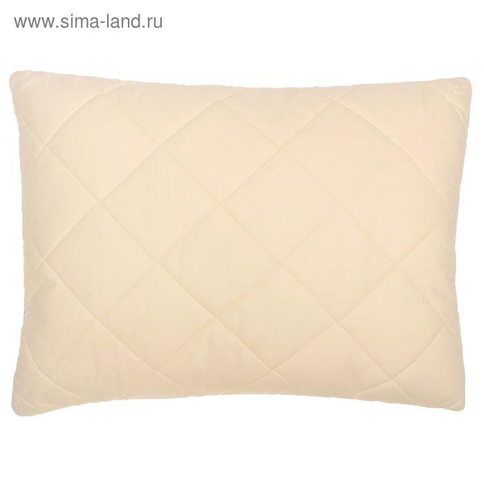 Подушка высокая 50*68см, беж., овечья шерсть/силиконизированное волокно, поплин, хл100%