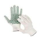 Перчатки, х/б, вязка 10 класс, 4 нити, с точками ПВХ, безразмерные, белые