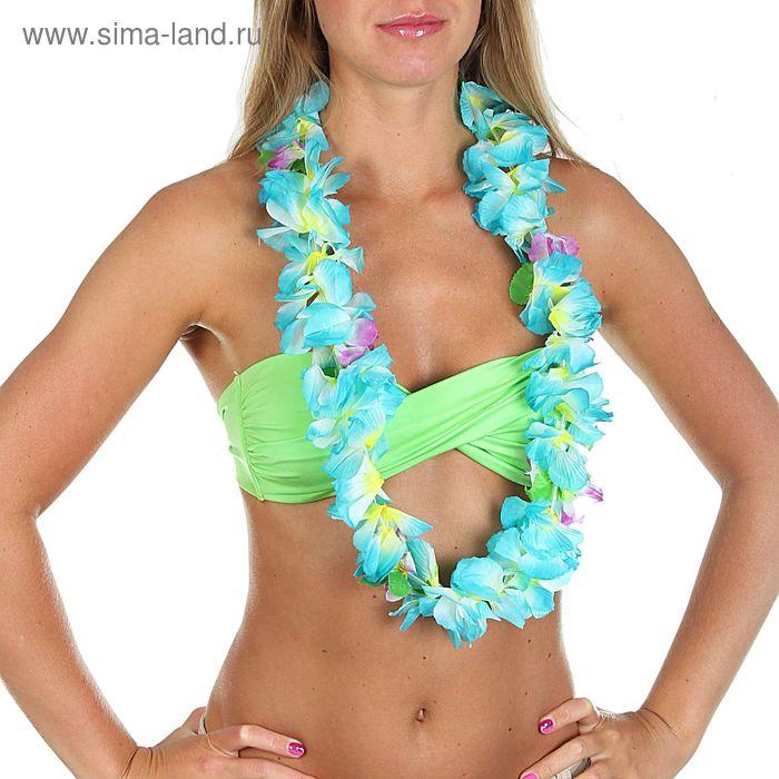 Ожерелье гавайское со вставкой из цветов, цвета МИКС