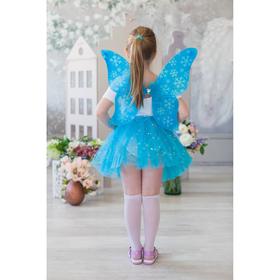 """Карнавальный набор """"Снежинка"""", 2 предмета: крылья, юбка двухслойная, цвет голубой"""