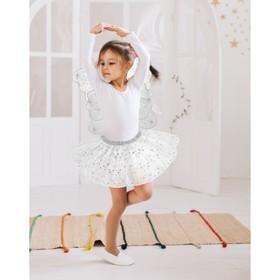 """Карнавальный набор """"Снежинка"""", 2 предмета: крылья, юбка двухслойная, 3-5 лет"""