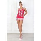 Пижама женская (майка, шорты) Бикини-2 цвет коралл, р-р 52