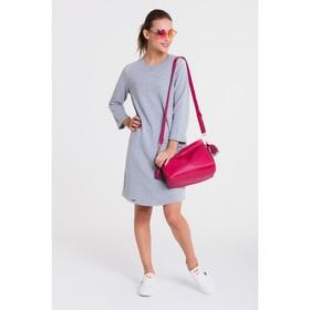 Платье женское, размер 44, рост 164, цвет серый 6629