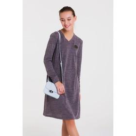 Платье женское, размер 44, рост 164, цвет серый 6641