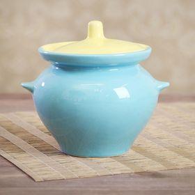 Горшок для запекания 0,45 л желто-голубой
