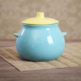 Горшок для запекания 0,6 л желто-голубой
