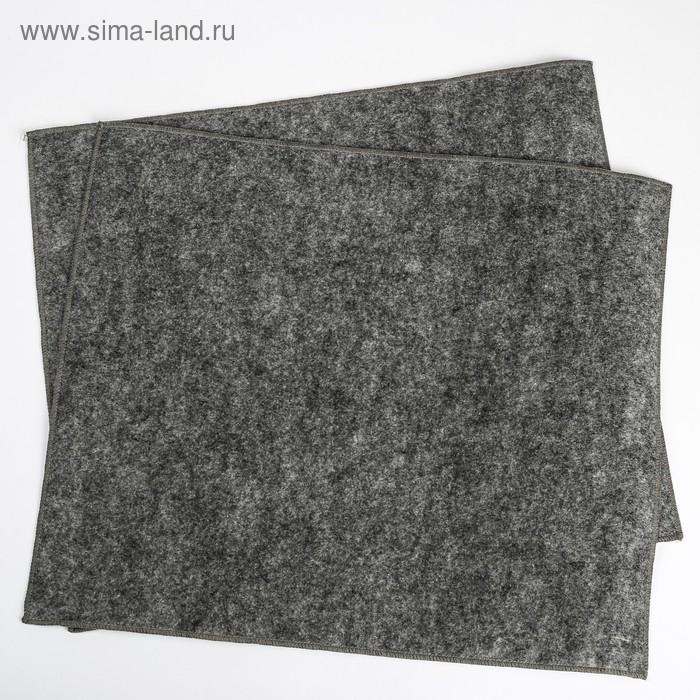 Влаговпитывающий коврик ZEBRA, двухслойный, 37 х 45 см, набор 2 шт.