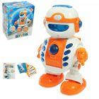 """Робот интерактивный """"Шунтик"""" с обучающими карточками, световые и звуковые эффекты"""