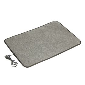 Теплый коврик для сушки обуви ТК-3, 80 Вт, серый