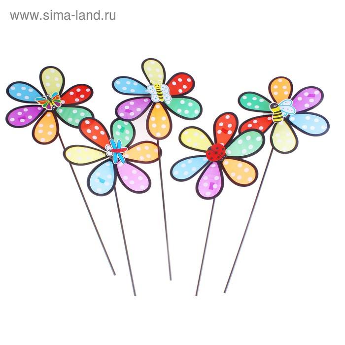 """Ветерок """"Семицветик горошек"""" насекомые, цвета МИКС"""