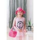 Карнавальный набор шляпка+сумка с цветком цвет малиновый р-р 50-52 2-5 лет
