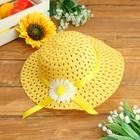 Детская шляпка с цветком, на резинке, р-р 50-52, 2-5 лет