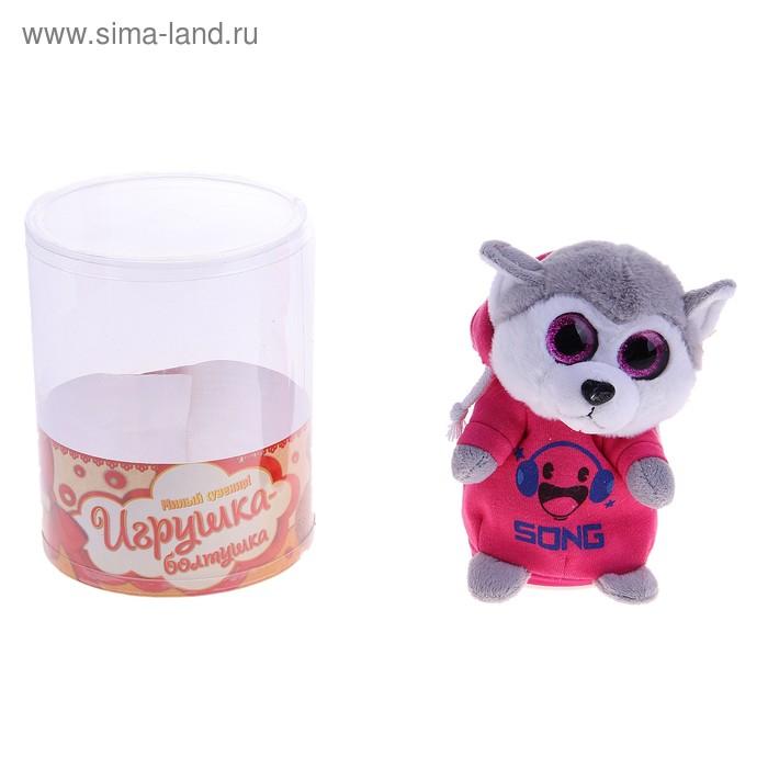 """Мягкая интерактивная игрушка-повторюшка """"Волк- диджей"""""""