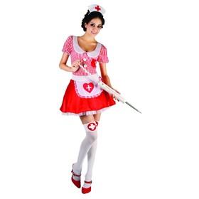 """Карнавальный костюм для взрослых """"Медсестричка"""", 2 предмета: платье, шапочка; размер 44-48"""
