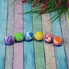 Мяч каучук на резинке, цвета МИКС