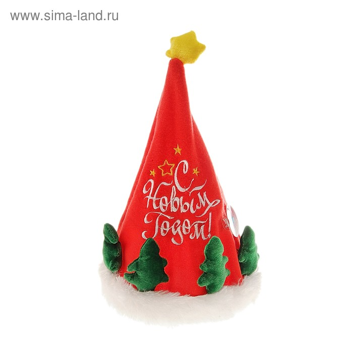 "Карнавальная музыкальная шляпа ""С новым годом!"""