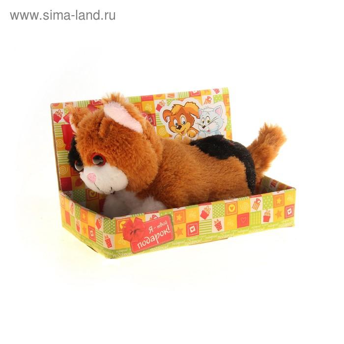 """Мягкая игрушка интерактивная """"Котенок"""" с черным пятном, в коробке"""