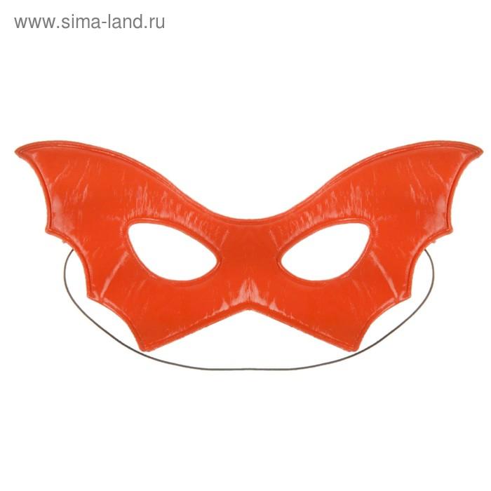 Маска пластик крылья летучей мыши глянец цвета микс 10*22