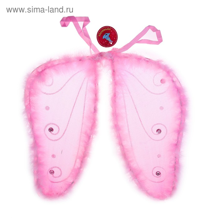 Карнавальные крылья бабочки с узорами по краям, меховые, цвета МИКС