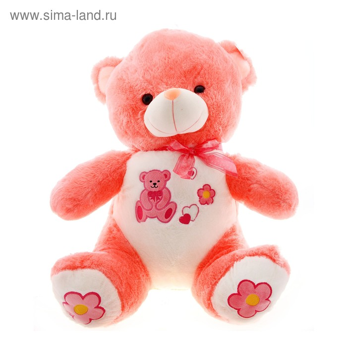 """Мягкая игрушка """"Медведь"""" вышит мишутка, на лапах цветы"""