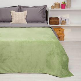 """Покрывало постельное """"Павлина""""  зеленый,150 х 200 см, аэрософт 190гр/м2,пэ100%"""