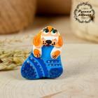 Магнит, ковровская глиняная игрушка «Собачка в носочке», микс