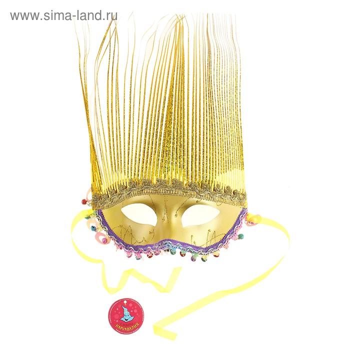 Карнавал маска Сказочная нимфа 36*20 цвет микс