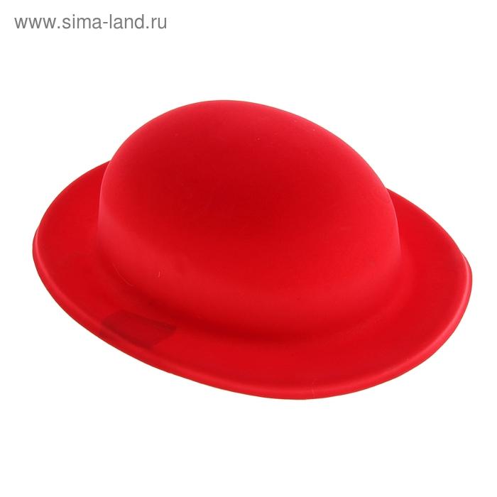 Карнавал шляпа пластик красная 9*24*28