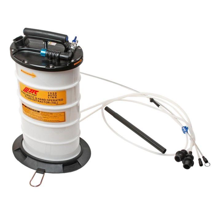 Приспособление для откачки технических жидкостей JTC с ручным и пневм. приводом, емкость 10л   24287