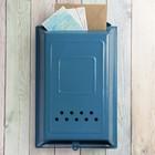 Ящик почтовый «Классика», вертикальный, без замка (с петлёй), синий