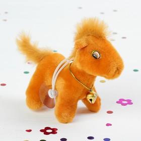 """Мягкая игрушка-присоска """"Лошадь"""" на шее колокольчик, цвета МИКС"""