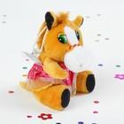 """Мягкая игрушка-присоска """"Лошадь девочка в юбочке"""", цвета МИКС"""