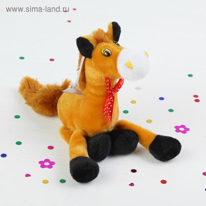 """Мягкая игрушка-присоска """"Лошадь с бантом"""" ноги болтаются, цвета МИКС"""